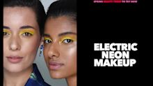 Don't be scared of electric neon makeup — it's the hottest trend to try now
