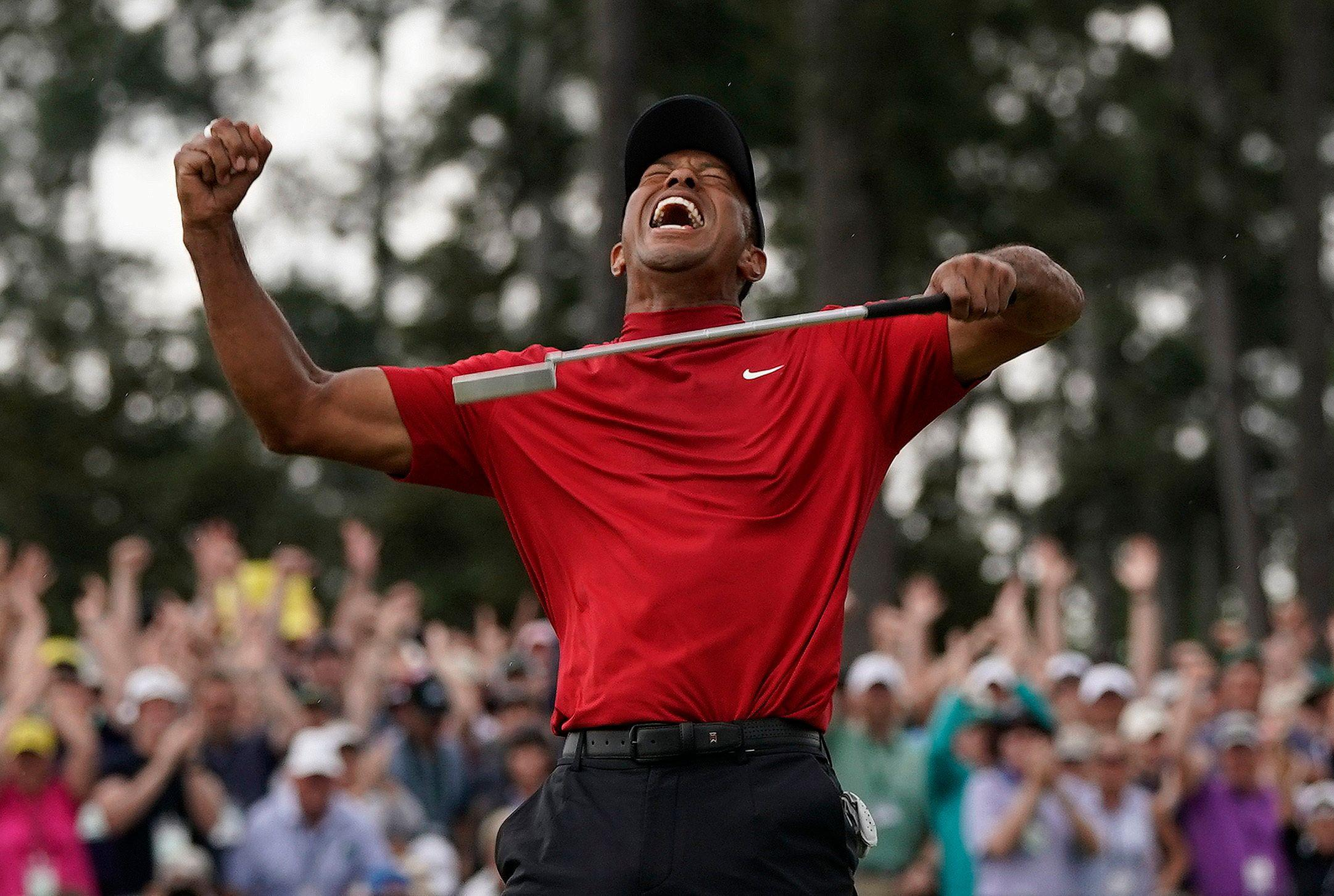 761fa94f7962f Tiger Woods wins the Masters for fifth time