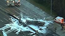 Raw: Interstate Closed After Tanker Explosion