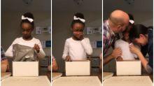 Vídeo mostra reação emocionante de garotinha ao saber que será adotada