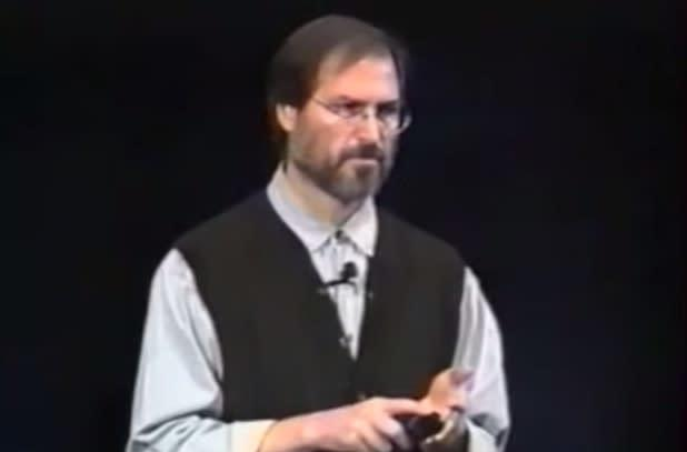 """Video of Steve Jobs calling out Michael Dell: """"We're coming after you buddy"""""""