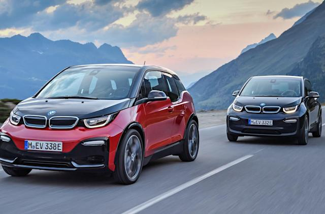 BMW adds a performance version of its electric i3 for 2018