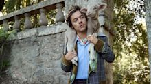 Harry Styles Models with Baby Farm Animals for Gucci