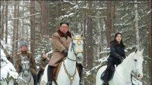 Nordkoreas Machthaber reitet erneut auf symbolischen Berg seines Landes