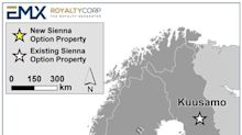 EMX Royalty Options Two Gold Projects in Norway to Sienna