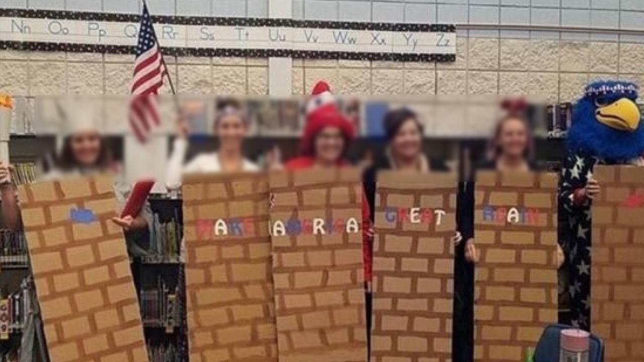 14 Idaho School Staffers Placed on Leave After Dressing Up as the 'Border Wall'