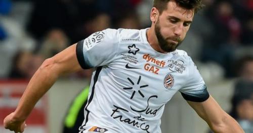 Foot - L1 - Montpellier - Montpellier avec Mathieu Deplagne, Souleymane Camara et Geoffrey Jourdren dans le groupe à Caen