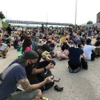 Protesters return to St. Louis area where couple drew guns