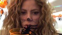 ¿Shakira se convirtió en una gatita en Halloween?; ¿o era conejita?
