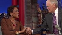 Robin Roberts Visits David Letterman
