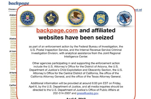 Backpage.com officials indicted following FBI shutdown