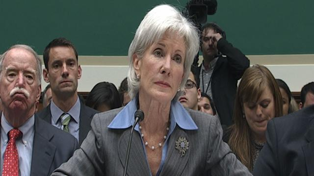 Kathleen Sebelius Takes Heat From Congress Over Flawed Health Care Website