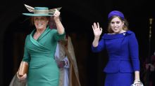 Why did maid of honour Princess Beatrice arrive with Fergie at sister's royal wedding?