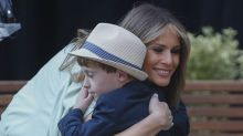 This Is How Melania Trump Embraced Spring Style for Children's Hospital Visit