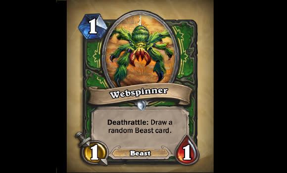 Hearthstone reveals new Webspinner card