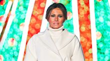 Melania Trump defends White House Christmas 'blood trees' - says they look beautiful IRL