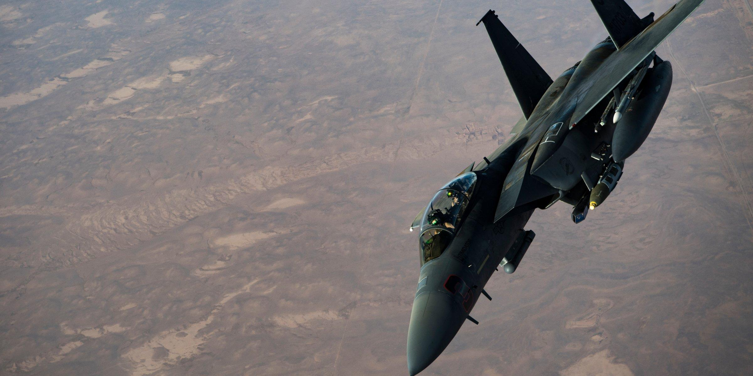 US jets smashed an island ISIS was using 'like a hotel' and troops found rockets and bombs stashed in caves
