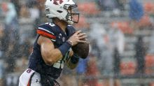 Controversial call lifts No. 13 Auburn to 30-28 win over Arkansas
