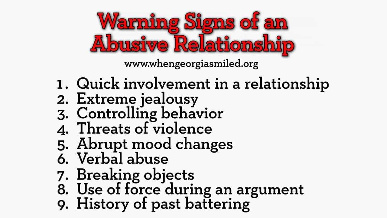 Of abusive men signs Warning Signs