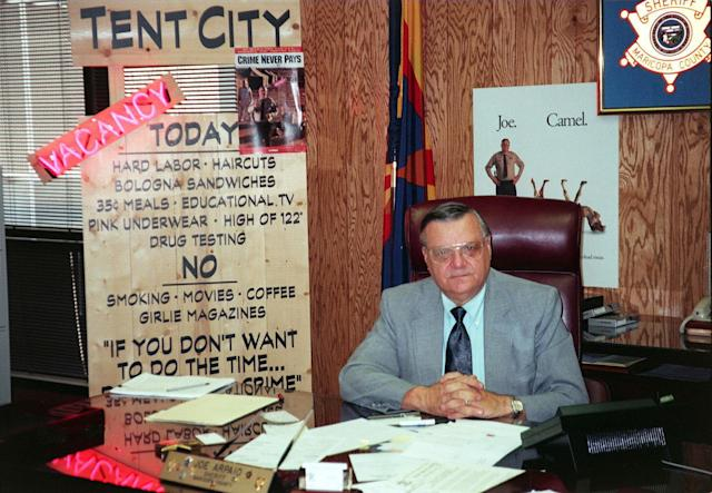 As sheriff, Arpaio established -- and showed off to the media -- a