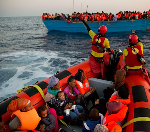 Migrants and refugees rescued off the Libyan coast