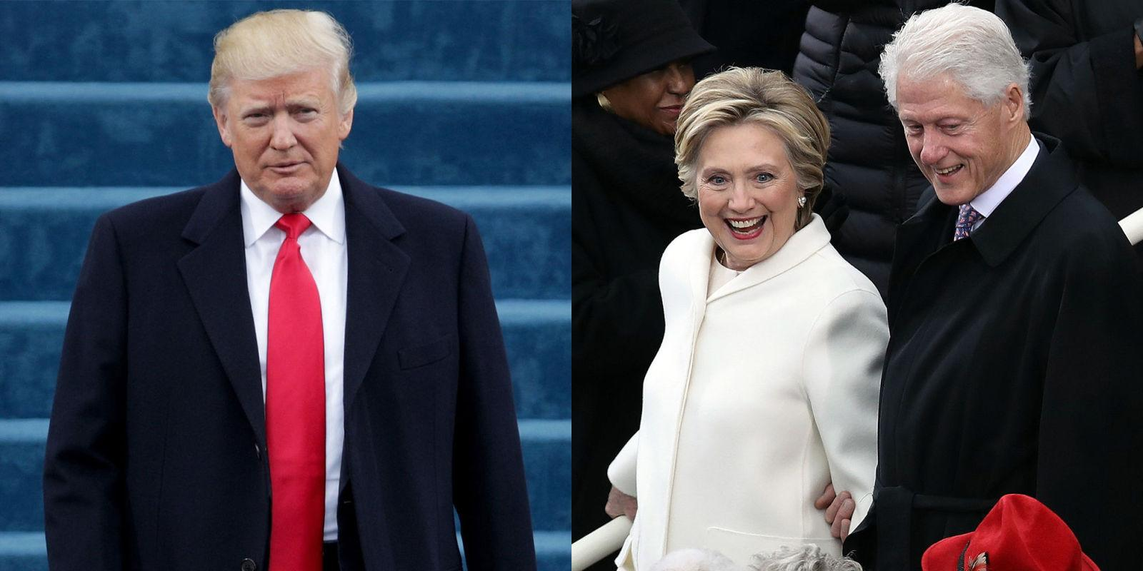 Donald Trump Led a Standing Ovation for Hillary and Bill Clinton