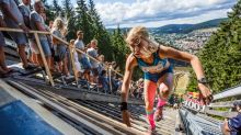 Introducing the toughest 400m race in the world, where competitors run up a ski jump