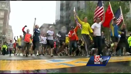 Thousands return to Boston Marathon's final mile in OneRun