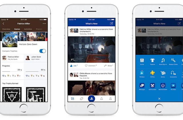 PlayStation's redesigned phone app focuses on socializing
