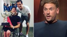 Dylan Alcott recounts hilarious run-in with naked Roger Federer