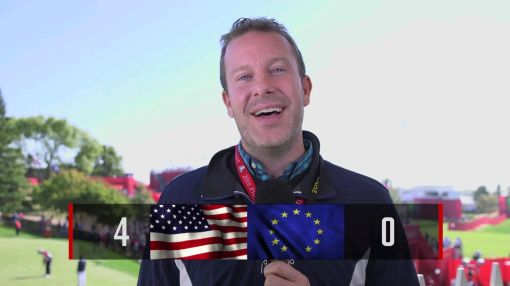 Ryder Cup 2016: U.S. Dominates Morning Foursomes