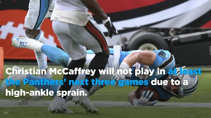 Christian McCaffrey to miss at least three weeks