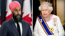 Apologies to the Queen: NDP leader Jagmeet Singh doesn't think monarchy is relevant in Canada