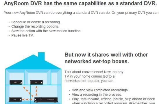 Comcast starts offering multiroom features, 500GB hard drives with AnyRoom DVR