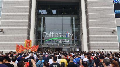 CapitaLand's Raffles City Chongqing saw shopper traffic of 900,000 on opening weekend