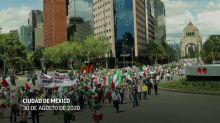 Miles protestan contra presidente en la Ciudad de México