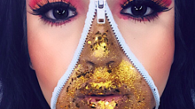 Glitter zip make-up is the Halloween beauty trend you need to try out tonight