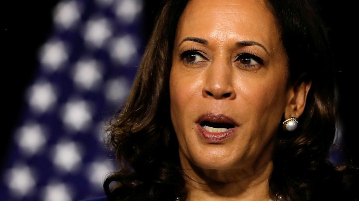 'Why don't they want us to vote?' Harris wonders