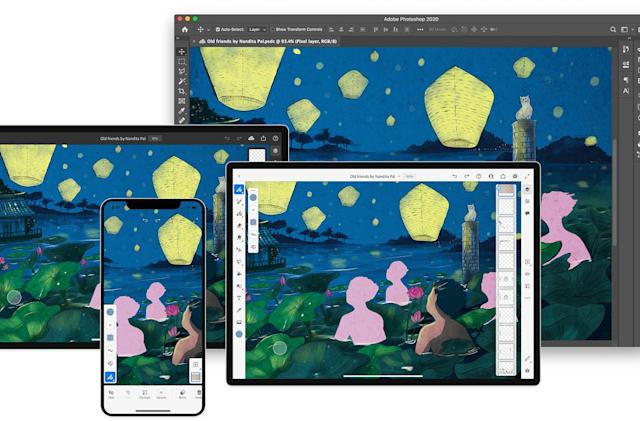 Adobe's Fresco painting app is now available on iPhone
