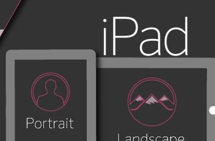 The majority of iPad owners prefer landscape over portrait