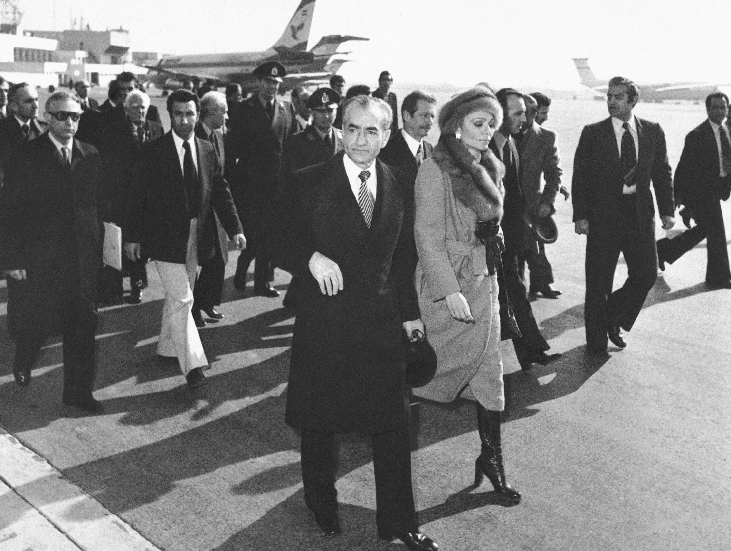 Image result for shah farewell iranian airport Mehrabad airport on January 14, 1979