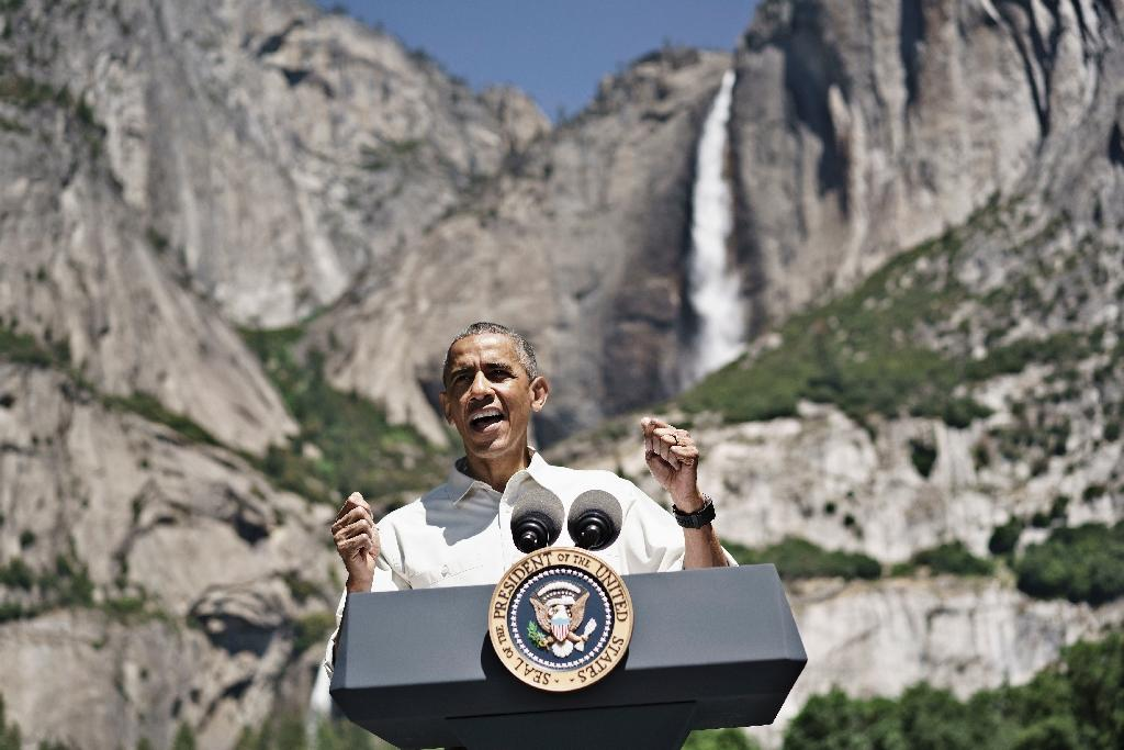 US President Barack Obama, seen at Yosemite National Park in June 2016, created two new national monuments protecting more than one million acres