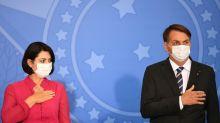 Michelle Bolsonaro testa positivo para o coronavírus
