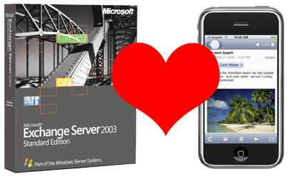 iPhone syncs with Exchange Server... kind of