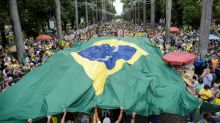 Demonstrators march in Brazil to support corruption crackdown