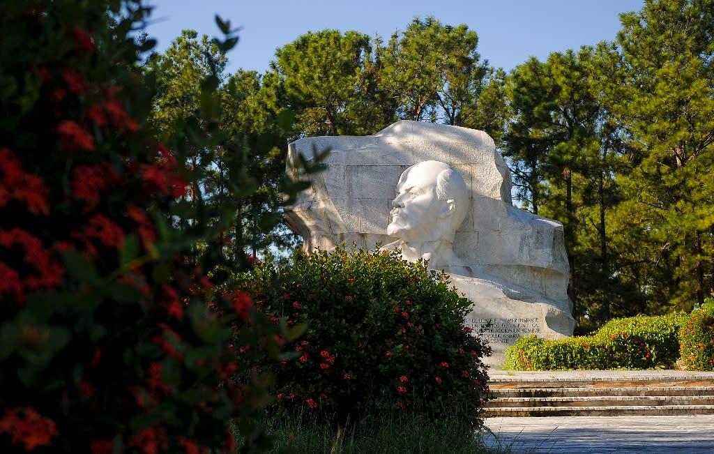 A statue of former Soviet leader Vladimir Lenin in Havana's Lenin Park (AFP Photo/Yamil LAGE)