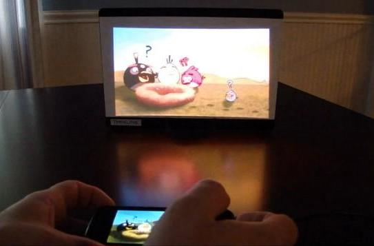 Nioncom's pico projector-equipped mini-tablet gets demoed on video