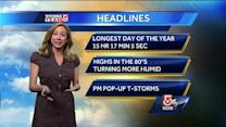 Danielle's Friday afternoon Boston-area forecast