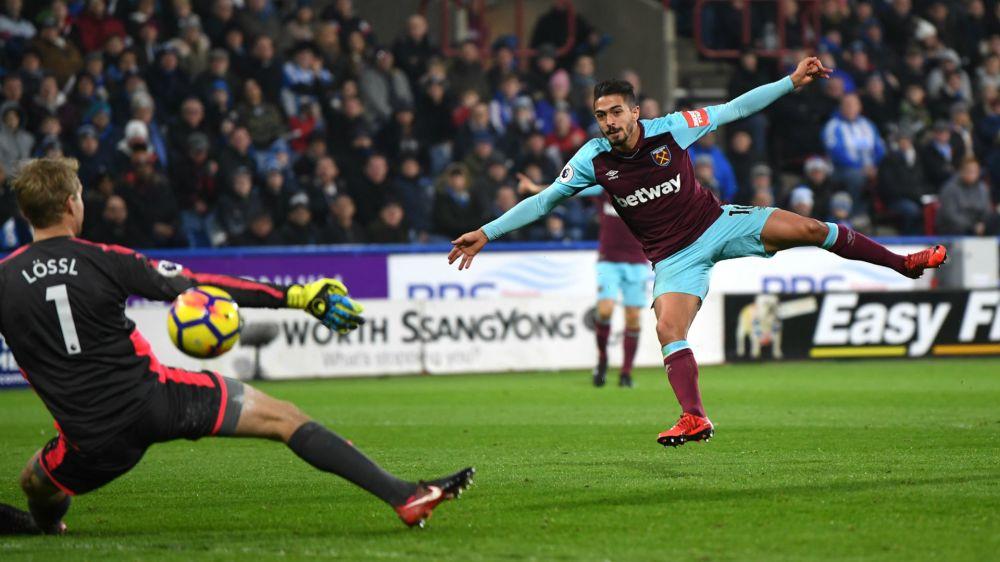 Lanzini marcó dos goles en la victoria de West Ham