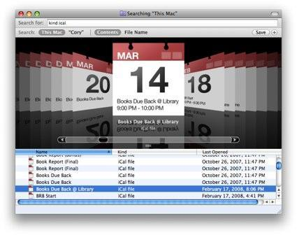 Mac 101: see iCal events in Cover Flow
